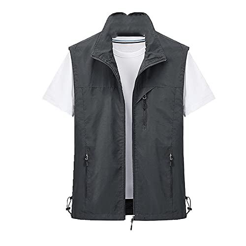 N\P Männer Weste Klassische Weste Mannjacke Mantel Arbeitsweste