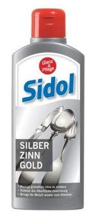SIDOL Silber Zinn Gold 250ml Reinigt gründlich Tafelgeschirr,...