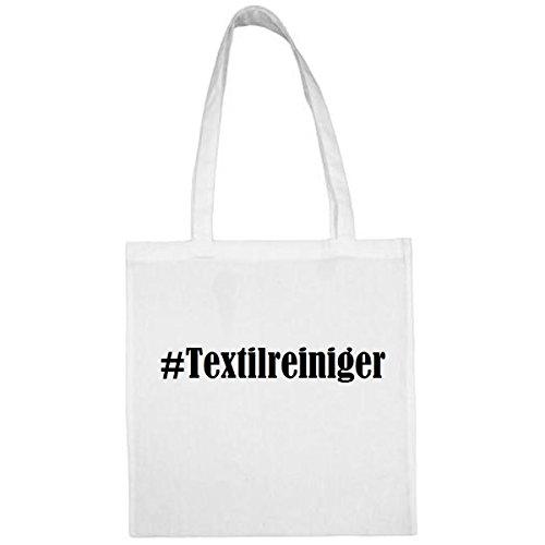 Tasche #Textilreiniger Größe 38x42 Farbe Weiss Druck Schwarz