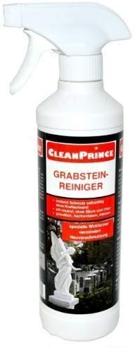 CleanPrince 0,5 Liter Grabstein-Reiniger Moos Entferner Algen Ex...