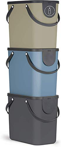 Rotho Albula 3er-Set Mülltrennungssystem 25l für die Küche,...