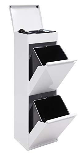 Arregui Top CR221-B Recycling Abfalleimer / Mülleimer aus Stahl mit...