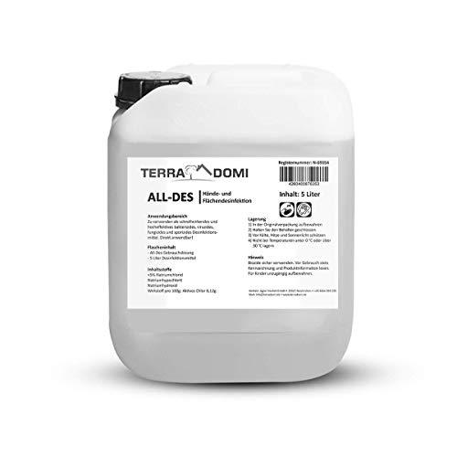 TerraDomi All-Des 5 Liter schnell Desinfektionsmittel gegen 99,9 aller...