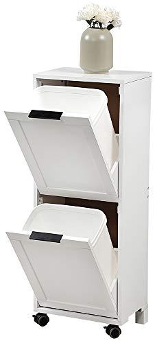 KESPER 2553013 Universalschrank mit Mülltrennsystem, weiß lackiert