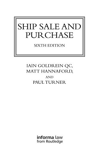 Ship Sale and Purchase (Lloyd's Shipping Law Library) (English...
