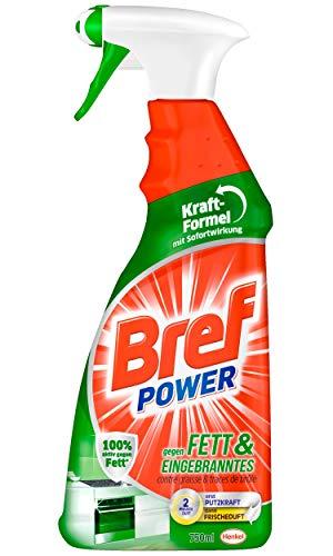 Bref Power gegen Fett und Eingebranntes, Fettlöser, 750 ml...
