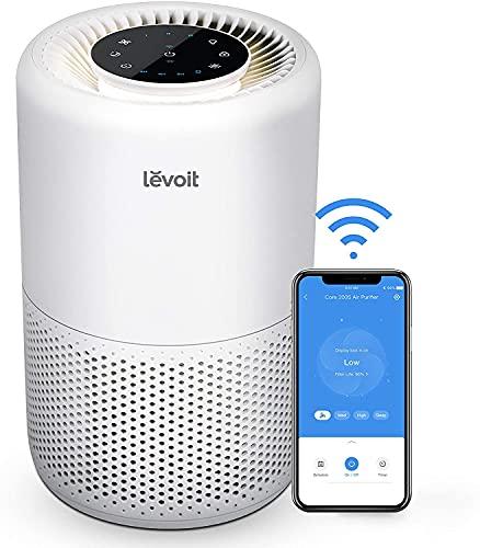 LEVOIT Smart Luftreiniger mit Wlan und Alexa, 3-in-1 HEPA H13 Filter...