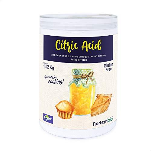 Nortembio Zitronensäure 1,02 Kg. 100% Reines Pulver in...