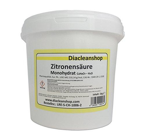 Zitronensäure Pulver 1kg - reiner als Lebensmittelqualität E330...