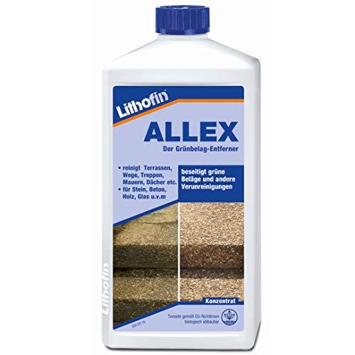 Lithofin Allex Grünbelag-Entferner Algen- und Moosentferner 1 Liter -...