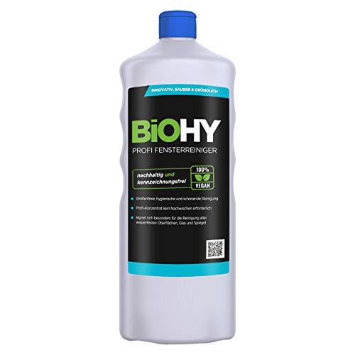 BiOHY Profi Fensterreiniger (1l Flasche) | Glasreiniger Konzentrat,...