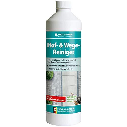 HOTREGA Hof- & Wege-Reiniger Konzentrat 1 Liter, Steinreiniger,...