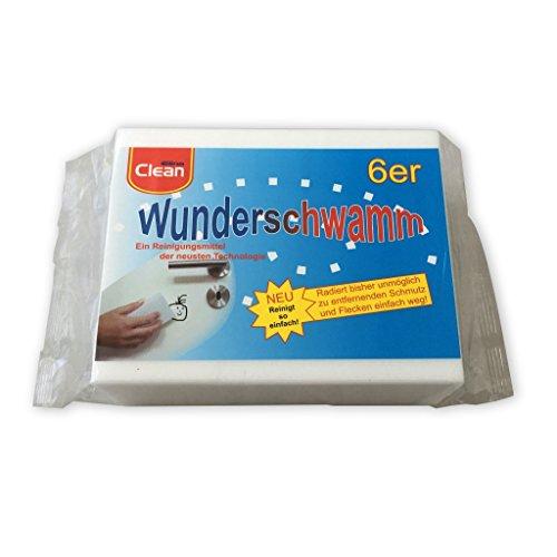Osma 6 Stück Packung Wunderschwamm, Schmutzradierer, Putzschwamm,...