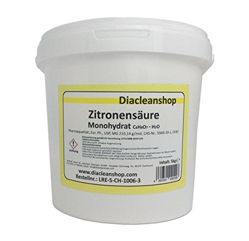 Zitronensäure Pulver 5kg - reiner als Lebensmittelqualität E330 -...