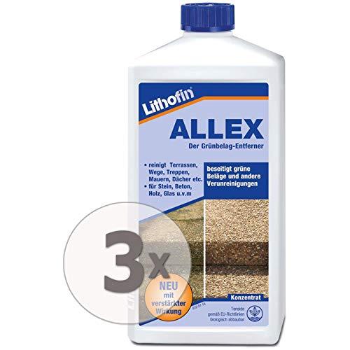 Lithofin ALLEX 3 l - Grünbelag-Entferner Algen- und Moosentferner -...