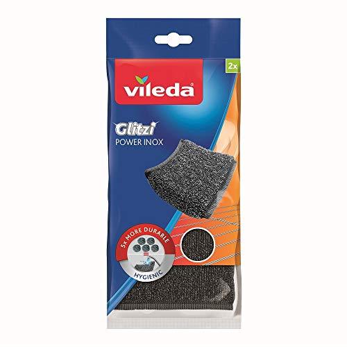Vileda Glitzi Power Inox, Stahlschwamm gegen hartnäckige...