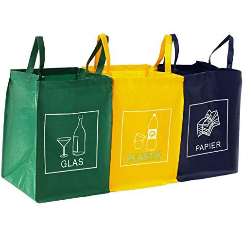 DWD-Company 3er Set Mülltrennsystem Abfalltrenner für Papier,...