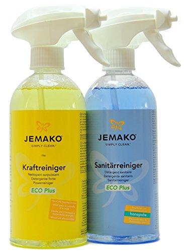 Jemako Reiniger-Set - Kraftreiniger ECO Plus 500 ml & Sanitärreiniger...