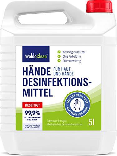 Desinfektionsmittel 5l Hände & Haut mit Rückfetter - ohne Parfüm...
