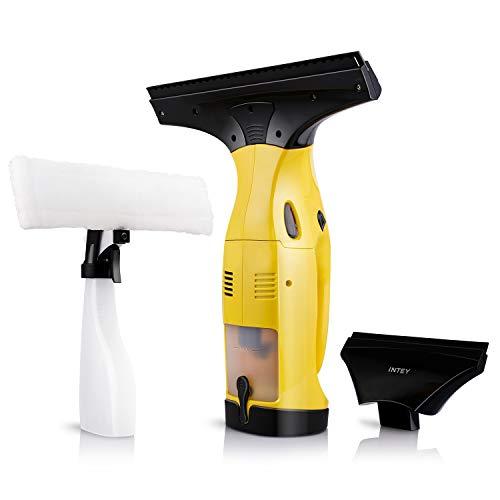 INTEY Fenstersauger, Fensterreiniger, Set Dry & Clean, Akku...