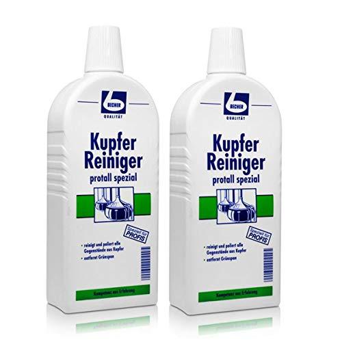 2x Dr. Becher Kupfer Reiniger protall spezial 500 ml