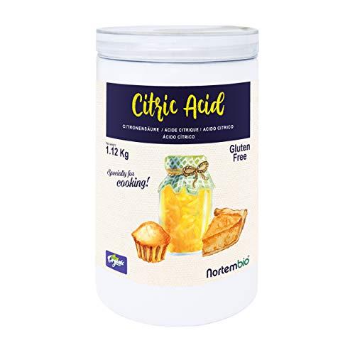 Nortembio Zitronensäure 1,12 Kg. 100% Reines Pulver in...