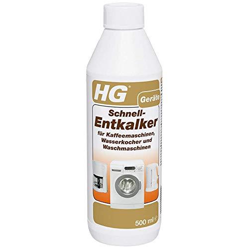 HG Schnell-Entkalker 2er pack (2x 500 ml) – Entkalker für...