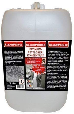 10 Liter Kanister CleanPrince Premium Fettlöser Konzentrat Fett...