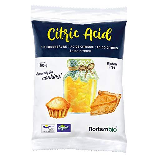 Nortembio Zitronensäure 500g. 100% Reines Pulver in...