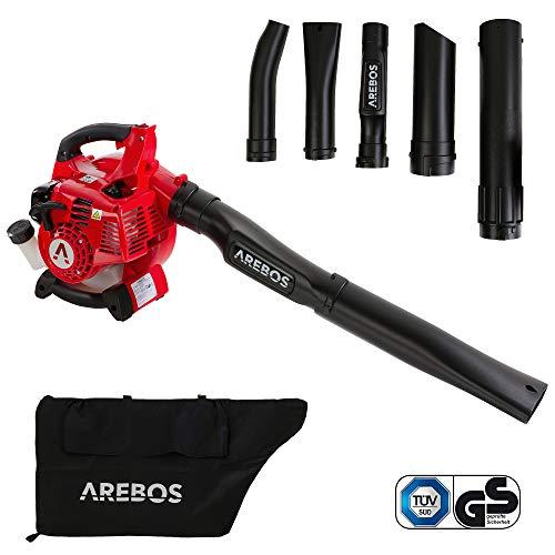 Arebos 3-in-1 Benzin Laubsauger | 700 W | inkl. 45 L Auffangsack | mit...