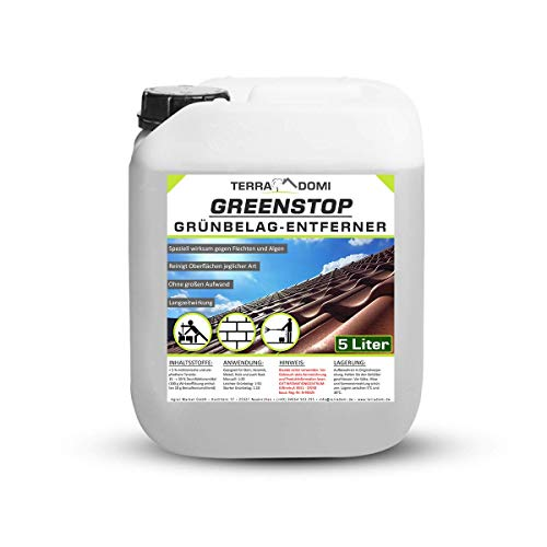 TerraDomi 5 Liter Greenstop für 1500m² I Grünbelagentferner gegen...
