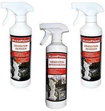 CleanPrince 3 Stück Set zur Grabstein Pflege | BESTEHEND AUS: 2 x...
