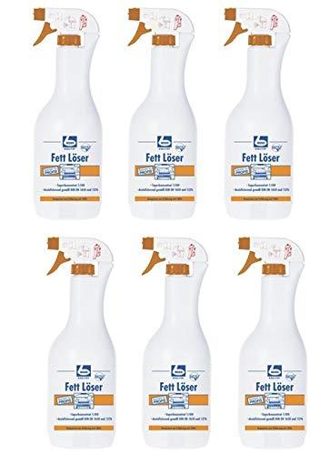 6 x DR. BECHER Fett Löser   Fettlöser in 1L Flasche Sprühflasche  ...