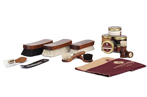 Langer & Messmer 17-teiliges Schuhpflegeset inkl. Lederpflegecremes...