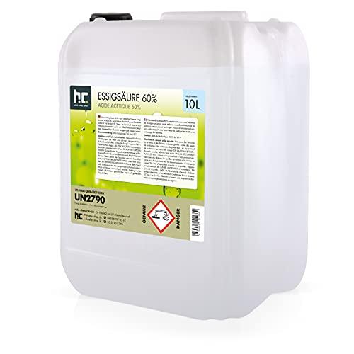 1 x 10 L Essigsäure 60% - frisch abgefüllt im handlichen 10 L...