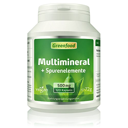 Multimineral + Spurenelemente, 510 mg, hochdosiert, 120 Kapseln,...