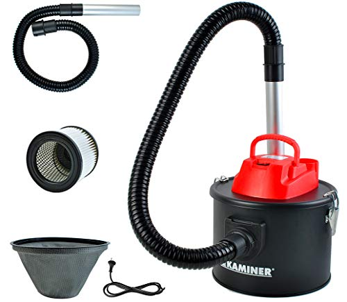 Aschesauger Elektrisch 10l 800W Kaminofen Grill 2 Filtersystem HEPA...