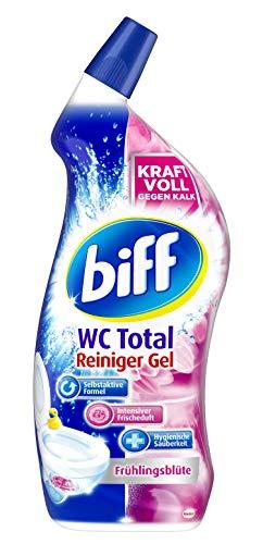 Biff WC Total Reiniger Gel Frühlingsblüte, 1 x 750 ml, WC-Reiniger...