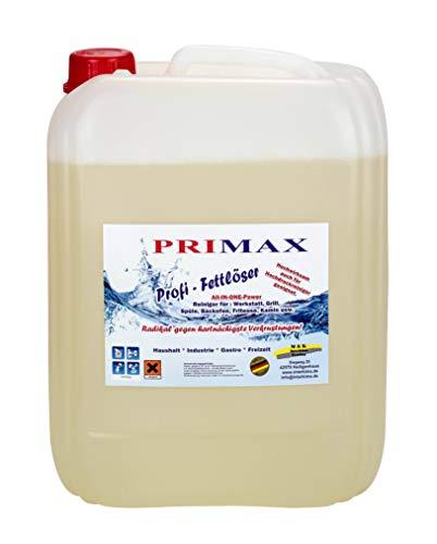 Primax Profi Fettlöser in 10 Liter Kanister - Profi-Fettlöser...