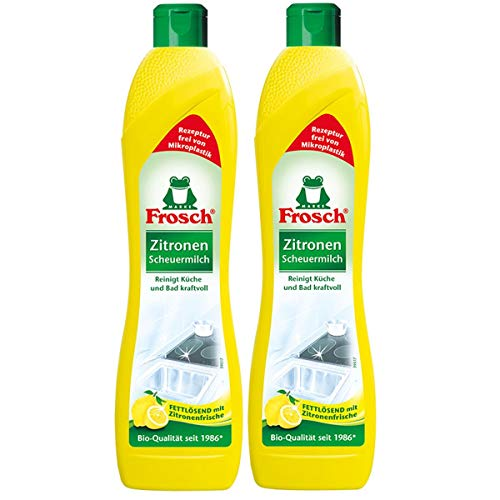 2x Frosch Zitronen Scheuermilch 500 ml - Reinigt Bad und Küche...