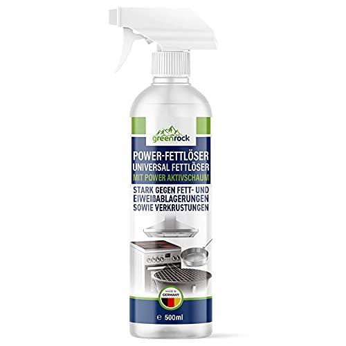 greenrock Power-Fettlöser (1 Flasche je 500ml) – mit Aktivschaum...