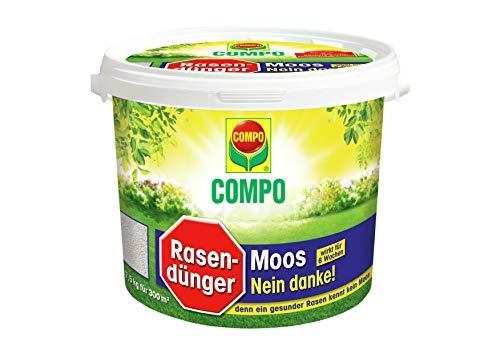 Compo Rasendünger Moos -nein Danke! mit 6 Wochen Wirkung,...