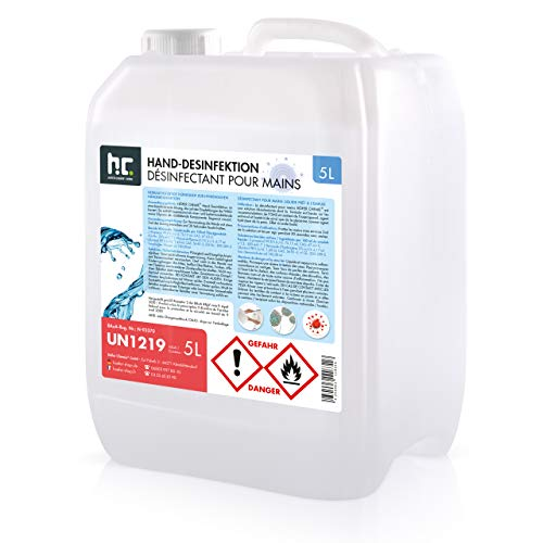 5 L Desinfektionsmittel für Hände - anwendungsfertig - nach Rezept...