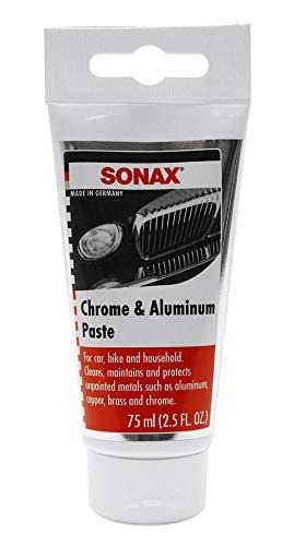 SONAX Chrom- & AluPaste (75 ml) Poliermittelhaltige Pflegepaste zur...