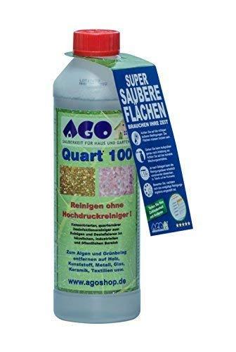 AGO® Quart 100 Grünbelag Entferner Chlorfrei & Säurefrei I 500 ml...