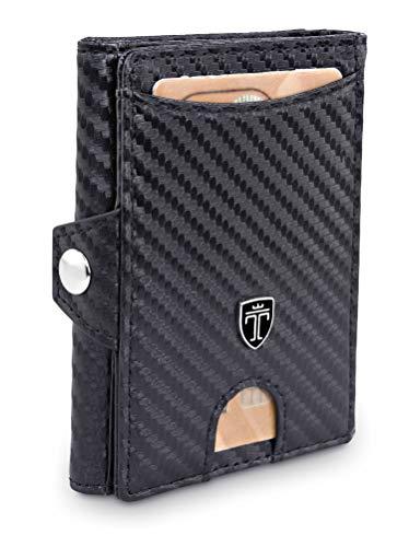 TRAVANDO Slim Wallet mit Geldklammer und Münzfach - Mini Geldbörse...