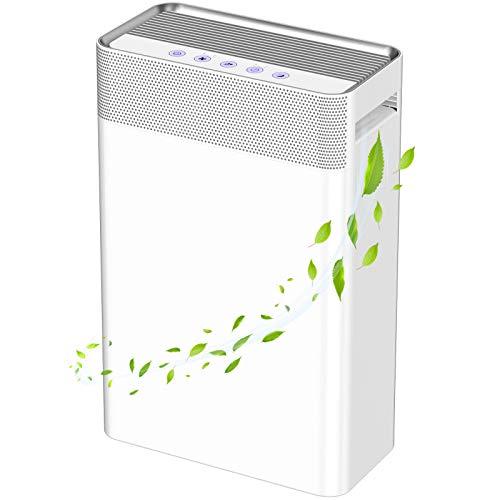 Luftreiniger mit HEPA-Filter und Ionisator,Aktivkohle 45 m² Air...
