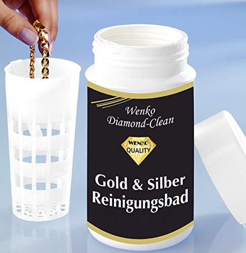 WENKO Diamond Clean Gold- & Silber Reinigungsbad - Schmuckreiniger,...