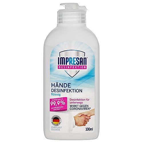 IMPRESAN Händedesinfektionsmittel flüssig 100 ml: Hand-Reinigung...