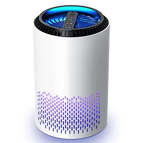 Kloudi Luftreiniger mit HEPA Filter, 3 Modi Air Purifier mit UV-licht...
